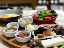 Fondo turco della sfuocatura della prima colazione Immagini Stock Libere da Diritti