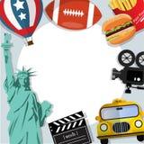 Fondo U.S.A. delle insegne di viaggio Fotografia Stock