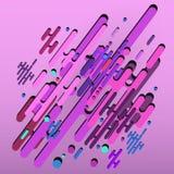 fondo ultravioletto astratto geometrico 3d - vector eps10 Fotografia Stock