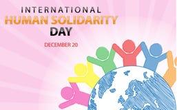 Fondo umano internazionale di giorno di solidarietà royalty illustrazione gratis