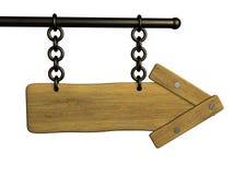 Fondo - un letrero de madera 3d el índice Imagen de archivo