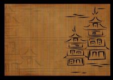 Fondo - una estera de lámina japonesa antigua ilustración del vector