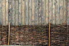 Fondo unico di recinzione del legno Fotografia Stock Libera da Diritti