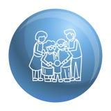 Fondo unito felice di concetto 'nucleo familiare', stile del profilo illustrazione vettoriale