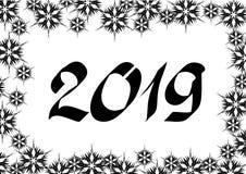 Fondo uno del nuovo anno illustrazione vettoriale