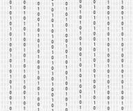 Fondo in uno stile della matrice Numeri casuali di caduta Bianco è il colore dominante Illustrazione di riserva di vettore illustrazione vettoriale