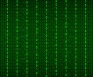 Fondo in uno stile della matrice Numeri casuali di caduta Il verde ? colore dominante Illustrazione di riserva di vettore illustrazione di stock