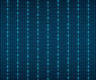 Fondo in uno stile della matrice Numeri casuali di caduta Il verde ? colore dominante Illustrazione di riserva di vettore illustrazione vettoriale