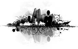 Fondo urbano abstracto