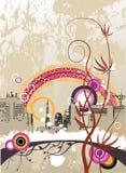 Fondo urbano abstracto ilustración del vector
