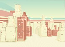 Fondo urbano con el edificio Foto de archivo