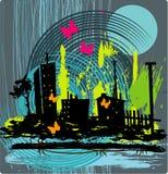 Fondo urbano de Grunge ilustración del vector