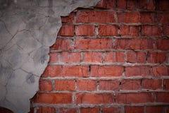 Fondo urbano de la textura del hormigón y de la pared de ladrillo Fotos de archivo
