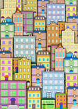 Fondo urbano del edificio stock de ilustración