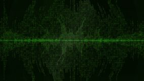 Fondo v10 del verde de la forma de onda de Digitaces almacen de metraje de vídeo