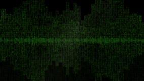 Fondo v7 del verde de la forma de onda de Digitaces almacen de video