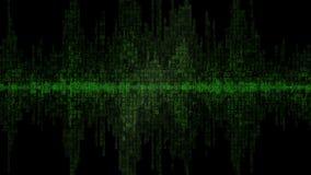 Fondo v1 del verde de la forma de onda de Digitaces almacen de metraje de vídeo