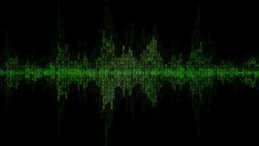 Fondo v3 del verde de la forma de onda de Digitaces almacen de metraje de vídeo