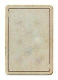 Fondo vacío aislado antiguo del papel del naipe con la línea Imagen de archivo