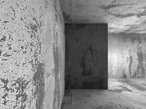 Fondo vacío concreto oscuro del interior del sitio Imágenes de archivo libres de regalías