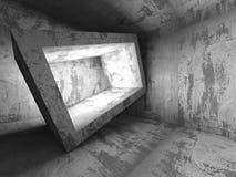 Fondo vacío concreto oscuro del interior del sitio Imagenes de archivo