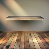 Fondo vacío de madera del estante. EPS 10 Imagen de archivo