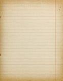 Fondo vacío de papel alineado vintage exacto imagen de archivo