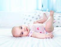 Fondo vacío del espacio del retrato del bebé imagen de archivo libre de regalías