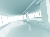 Fondo vacío del interior de la luz de la columna de la arquitectura abstracta Fotografía de archivo libre de regalías