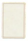 Fondo vacío del papel del naipe con la línea aislada en blanco Imagenes de archivo