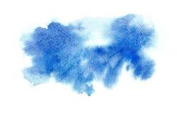 Fondo vago blu dell'acquerello disegnato a mano per testo royalty illustrazione gratis