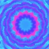 Fondo vago blu, porpora e rosa disegnato a mano, stile della mandala illustrazione vettoriale