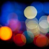 Fondo vago degli indicatori luminosi Fotografia Stock