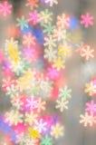 Fondo vago dei fiocchi di neve del bokeh Fotografie Stock