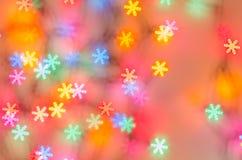 Fondo vago dei fiocchi di neve del bokeh Immagini Stock