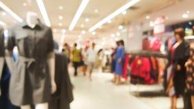 Fondo vago della zona di compera dei vestiti delle donne Fotografie Stock