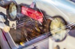 Fondo vago di retro pannello dell'automobile Fotografie Stock Libere da Diritti