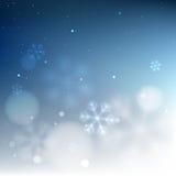 Fondo vago nevoso del confine inferiore blu illustrazione vettoriale