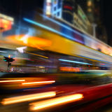 Fondo vago paesaggio urbano astratto Hon Kong immagine stock libera da diritti