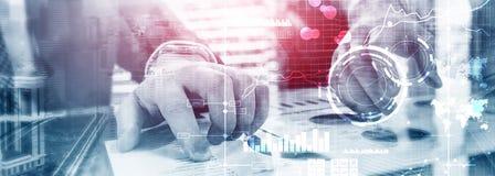 Fondo vago trasparente del cruscotto di analisi di KPI dell'indicatore di efficacia chiave della BI di business intelligence fotografie stock