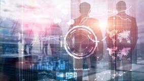 Fondo vago trasparente del cruscotto di analisi di KPI dell'indicatore di efficacia chiave della BI di business intelligence royalty illustrazione gratis