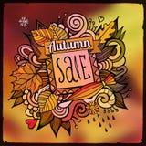 Fondo vago vendita decorativa di autunno di vettore Fotografia Stock Libera da Diritti