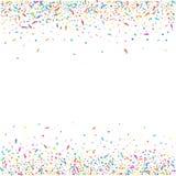 Fondo variopinto astratto dei coriandoli Isolato su bianco Illustrazione di festa di vettore Fotografia Stock Libera da Diritti