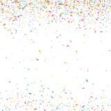 Fondo variopinto astratto dei coriandoli Su bianco Illustrazione di festa di vettore Fotografia Stock Libera da Diritti