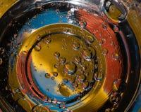 Fondo variopinto astratto delle bolle che somiglia ai pianeti nell'universo fotografie stock