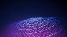 Fondo variopinto astratto di Wave griglia 3d Grandi dati futuristico royalty illustrazione gratis