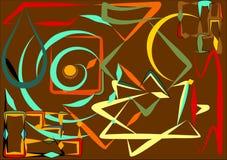 Fondo variopinto astratto, forme geometriche e curve operate 17-253 Fotografia Stock