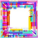Fondo variopinto astratto moderno 3D delle forme geometriche illustrazione di stock