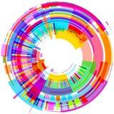 Fondo variopinto astratto moderno 3D delle forme geometriche in un cerchio royalty illustrazione gratis