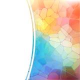 Fondo variopinto con il mosaico geometrico dell'arcobaleno Immagine Stock